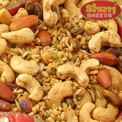 Spicy Namkeens at sham sweets india