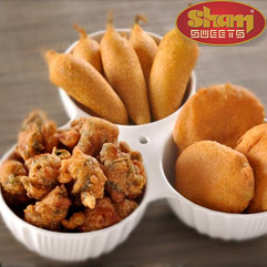 Snacks at sham sweets india